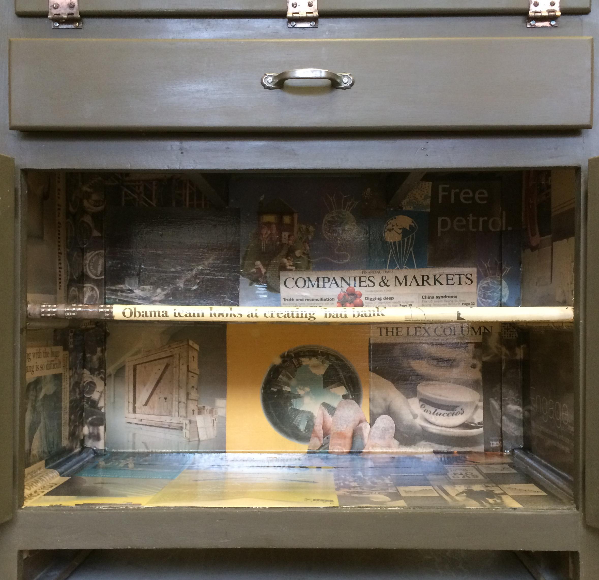 Vintage Kitchen Larder Cabinet With