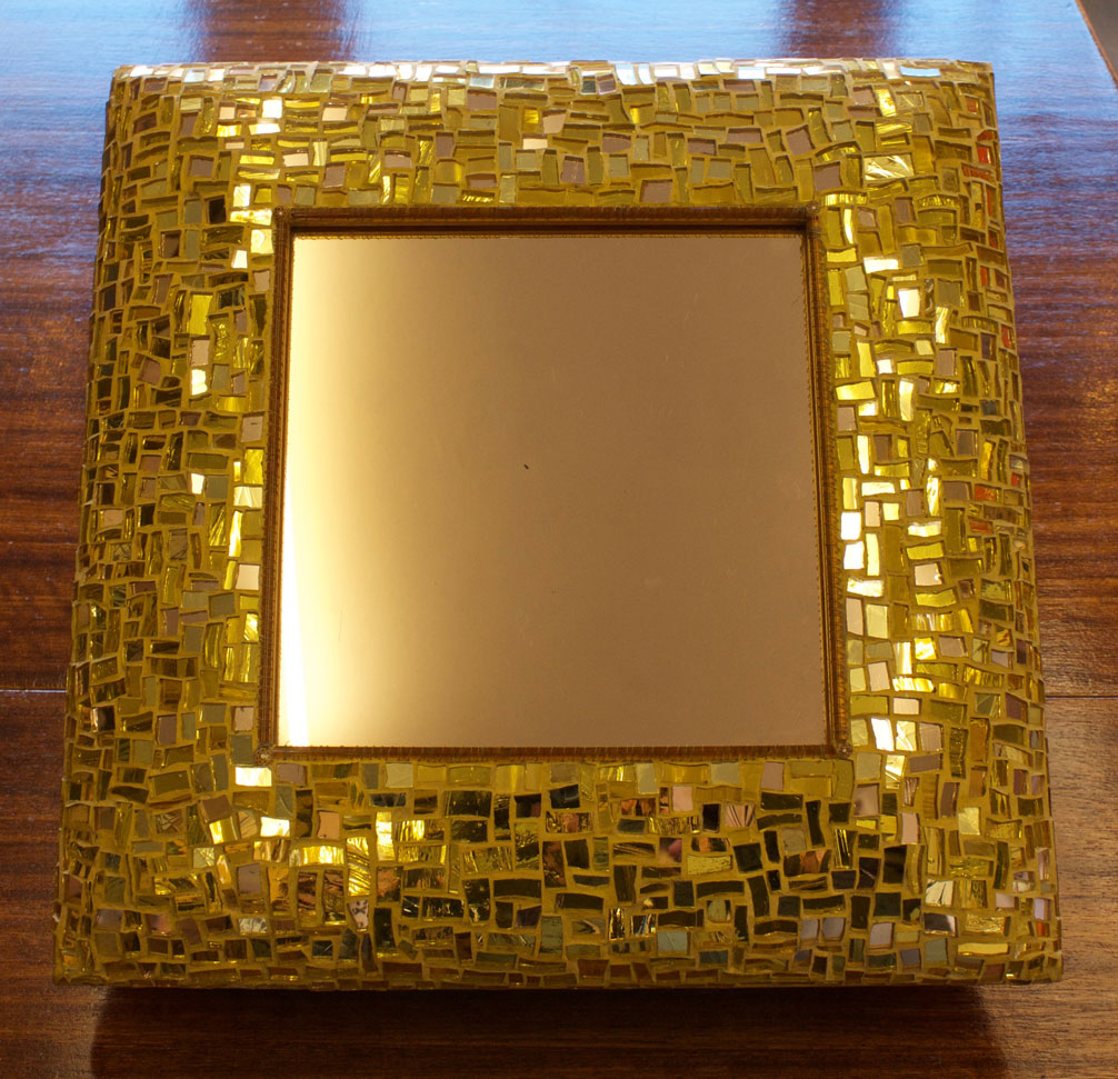 Well known GBA&D DESIGN ROOM | Golden Glass Mosaic on Mirror Frame WA89